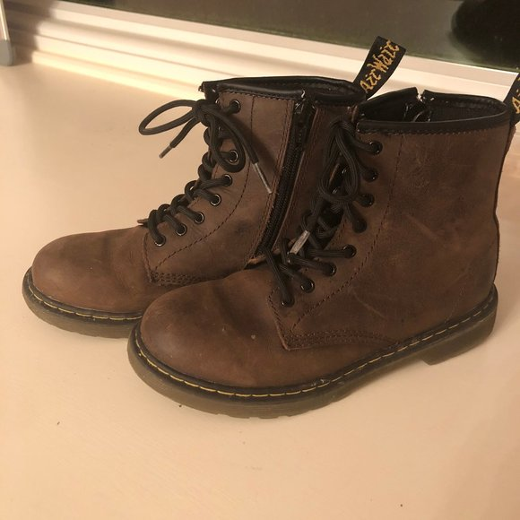 Girls Dr Marten Boots Size 3 Brown
